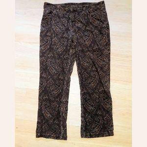 Jones New York Pants - SOLD Jones NY Sports Corduroy Pants Brown Paisley